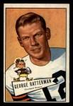 1952 Bowman Small #111  George Ratterman  Front Thumbnail
