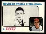 1973 Topps #346   -  Gaylord Perry  Boyhood Photo Front Thumbnail