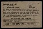 1952 Bowman Small #139  Jerry Shipkey  Back Thumbnail