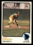 1973 Topps #456  Dick Green  Front Thumbnail