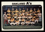 1973 Topps #500   A's Team Front Thumbnail