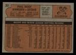1972 Topps #201  Phil Roof  Back Thumbnail