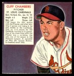 1952 Red Man #4 NL x Cliff Chambers  Front Thumbnail