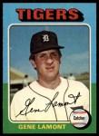 1975 Topps #593  Gene Lamont  Front Thumbnail
