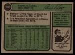 1974 Topps #141  Pat Bourque  Back Thumbnail