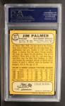1968 Topps #575  Jim Palmer  Back Thumbnail