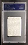 1950 Callahan Hall of Fame  Dazzy Vance  Back Thumbnail
