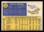 1970 Topps #289  Gene Brabender  Back Thumbnail