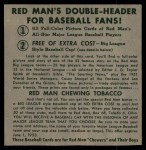1952 Red Man #4 NL x Cliff Chambers  Back Thumbnail