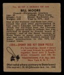 1948 Bowman #68  Bill Moore  Back Thumbnail