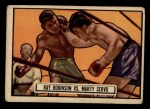 1951 Topps Ringside #34   -  Sugar Ray Robinson / Marty Servo Robinson vs Servo Front Thumbnail