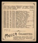 1910 T218 Champions #131  Honey Mellody  Back Thumbnail