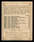 1910 T219 Champions #45 ME Jack Sullivan  Back Thumbnail