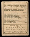 1910 T219 Champions #50 ME Ad. Wolgast  Back Thumbnail