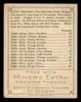 1910 T219 Champions #36 ME Dick Nelson  Back Thumbnail