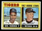 1967 Topps #72   -  John Matchick / George Korince Tigers Rookies Front Thumbnail