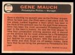 1966 Topps #411  Gene Mauch  Back Thumbnail