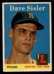 1958 Topps #59 xBOX Dave Sisler  Front Thumbnail