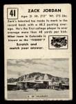 1951 Topps Magic #41  Zack Jordan  Back Thumbnail