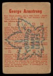 1960 Parkhurst #17  George Armstrong  Back Thumbnail