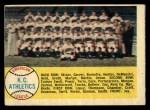 1958 Topps #174   Athletics Team Checklist Front Thumbnail