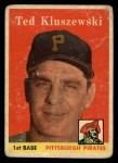 1958 Topps #178  Ted Kluszewski  Front Thumbnail