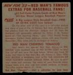 1953 Red Man #25 NL x Bobby Thomson  Back Thumbnail