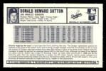 1973 Kellogg's #5  Don Sutton  Back Thumbnail