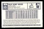 1973 Kellogg's #29  Phil Niekro  Back Thumbnail