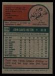 1975 Topps #509  Dave Hilton  Back Thumbnail