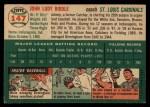 1954 Topps #147  John Riddle  Back Thumbnail