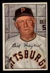 1952 Bowman #155  Billy Meyer  Front Thumbnail