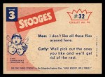 1959 Fleer Three Stooges #32   Cleaning Up the West.  Back Thumbnail