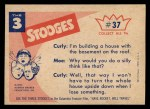 1959 Fleer Three Stooges #37   I Told You to Turn Off the Fan  Back Thumbnail