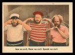 1959 Fleer Three Stooges #17   See No Evil Hear No Evil Front Thumbnail