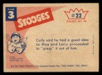 1959 Fleer Three Stooges #22   What do You Think I am Pair Back Thumbnail