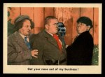 1959 Fleer Three Stooges #36   Get Your Nose Out of My Business  Front Thumbnail
