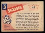 1959 Fleer Three Stooges #1   Curly  Back Thumbnail