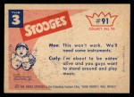 1959 Fleer Three Stooges #91   That's Using your Head Back Thumbnail