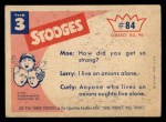 1959 Fleer Three Stooges #84   Strong Backs  Back Thumbnail