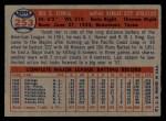 1957 Topps #253  Gus Zernial  Back Thumbnail