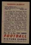 1951 Bowman #27  Thurman McGraw  Back Thumbnail