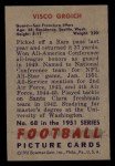 1951 Bowman #68  Visco Grgich  Back Thumbnail