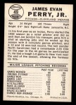 1960 Leaf #49  Jim Perry  Back Thumbnail