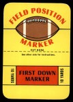 1971 Topps Game #0   Field Marker Front Thumbnail