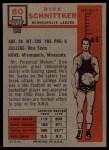 1957 Topps #80  Dick Schnittker  Back Thumbnail