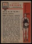 1957 Topps #47  Larry Friend  Back Thumbnail