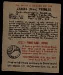 1948 Bowman #40  James Peebles  Back Thumbnail