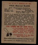 1948 Bowman #67  Paul McKee  Back Thumbnail