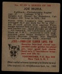 1948 Bowman #97  Joe Muha  Back Thumbnail